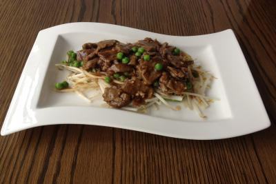 Beef on Beansprouts with Oyster Sauce