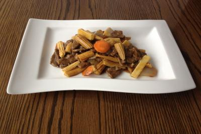 Beef with Baby Corn