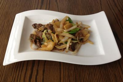 Beef with Ginger and Spring Onion