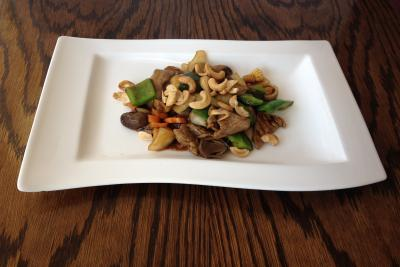 Beef with Cashew Nuts & Green Pepper