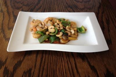 King Prawn with Cashew Nuts and Green Pepper
