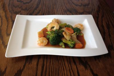 King Prawn with Broccoli Spears & Oyster Sauce