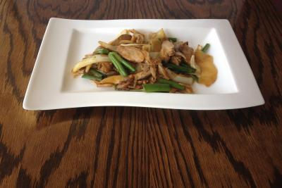 Roast Duck with Ginger & Spring Onion