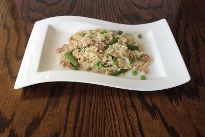 Duck Fried Rice with Spring Onion