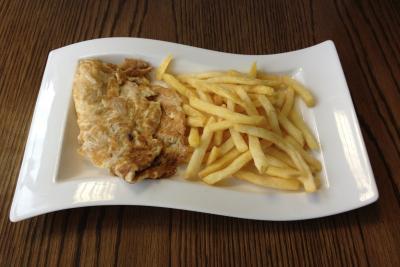 Prawn Omelette & Chips
