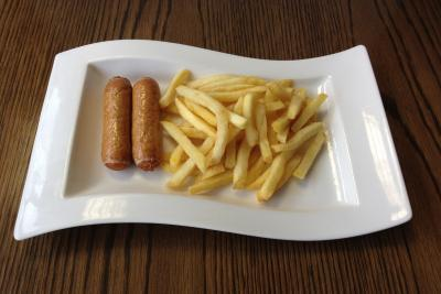 Two Sausages & Chips